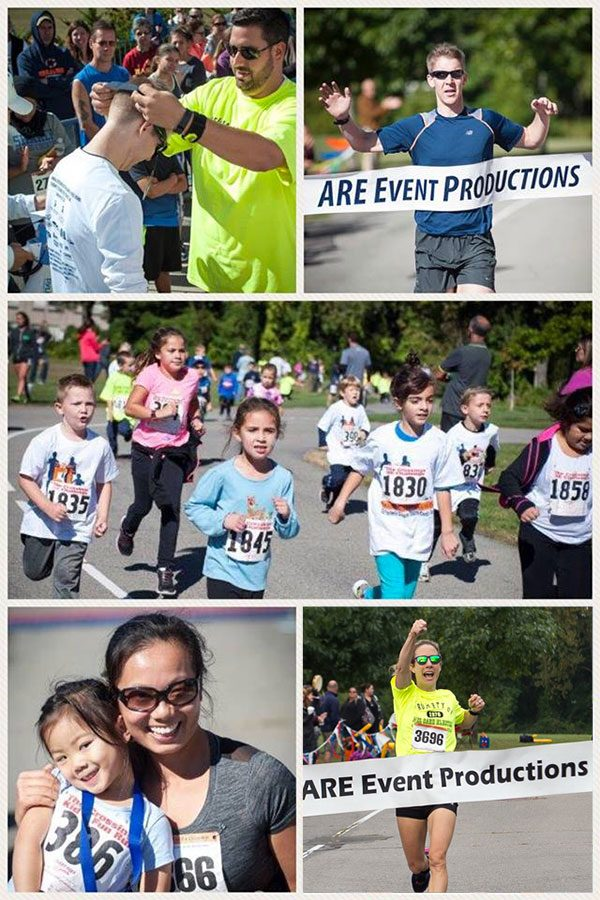 Photo Collage of Colonie Youth Center's Crossings 5K Challenge